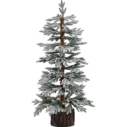 Snowy 4ft Larch White Christmas Tree