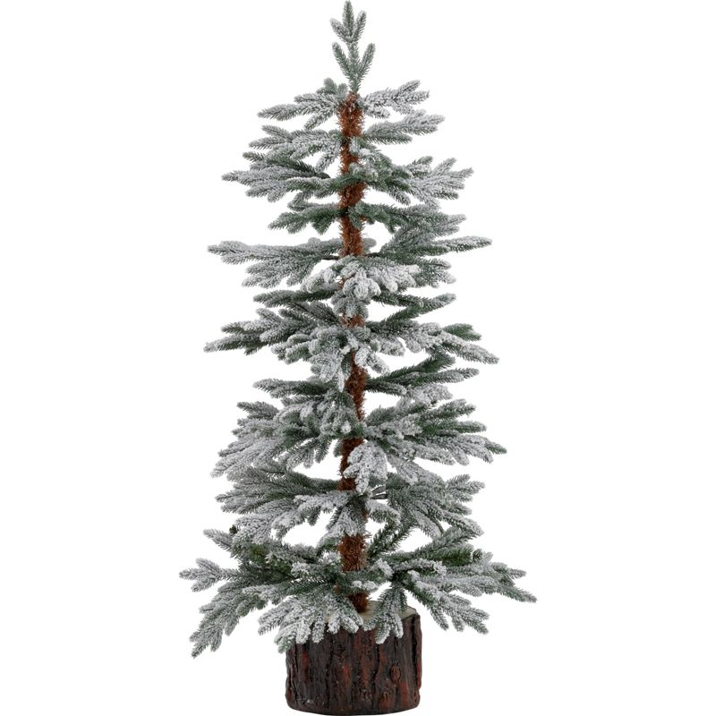 Homebase Artificial Christmas Trees: John Lewis Prelit LED Snowy Paper Tree, 4ft