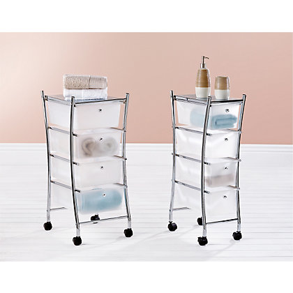 Image for Curved Four Drawer Bathroom Trolley from StoreName