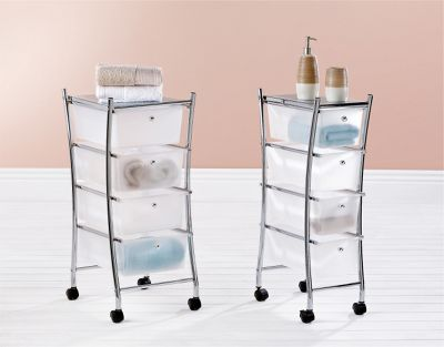Curved Four Drawer Bathroom Trolley