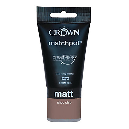 Image for Crown Breatheasy Chocolate Chip - Matt Emulsion Paint - 40ml Tester from StoreName
