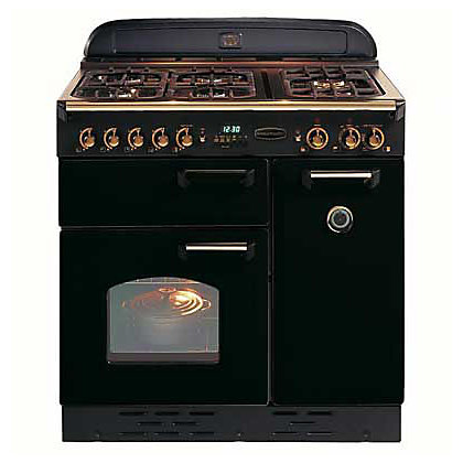 Image for Rangemaster Classic 72740 90cm Dual Fuel Cooker - Black & Chrome from StoreName