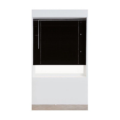 Image for Home of Style Black Aluminium 25mm Venetian Blind - 120cm from StoreName