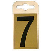 House Number Plate - Black and Gold - 7