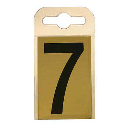 Image for House Number Plate - Black and Gold - 7 from StoreName