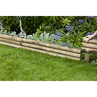 Horizontal Log Edging