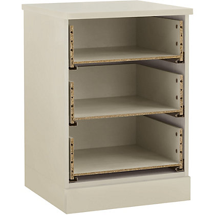 Image for Schreiber 3 Drawer Bedside Chest - Ivory from StoreName
