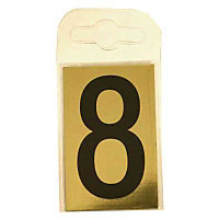 House Number Plate - Black and Gold - 8