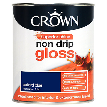 Image for Crown Oxford Blue - Non Drip Gloss Paint - 750ml from StoreName