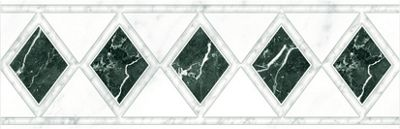 Verona Diamonds Strip Wall Tile - White - 250 x 80mm - 4 Pack
