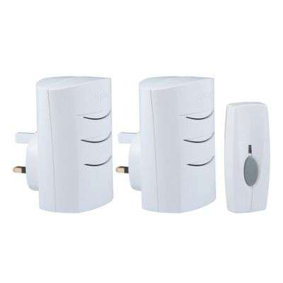 Homebase HB426 Plug In Twin Pack Wirefree Chime Kit - 60m