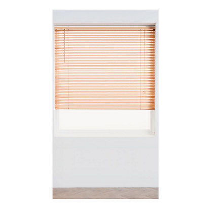 Image for Oak Wood 25mm Venetian Blind - 90cm from StoreName