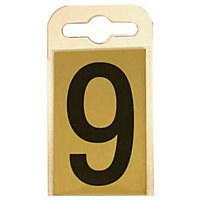 House Number Plate - Black and Gold - 9
