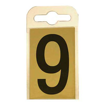 Image for House Number Plate - Black and Gold - 9 from StoreName