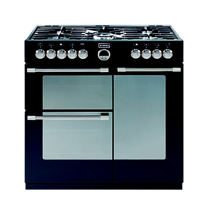 Image for Stoves Sterling 900DFT Dual Fuel Range Cooker - Black from StoreName