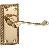 HBV Georgian Lever Latch - Polished Brass - 1 Pair