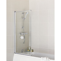 Aqualux Fully Framed Pearl Silver Bath Screen