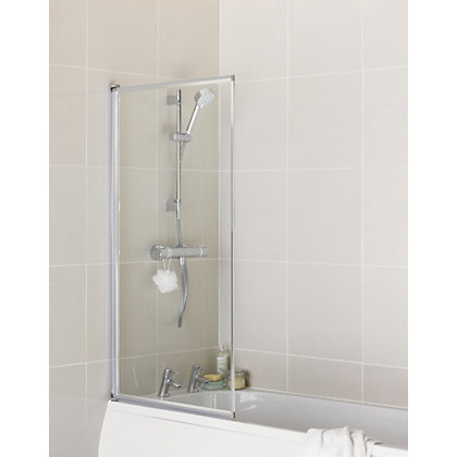 Image for Aqualux Fully Framed Pearl Silver Bath Screen from StoreName