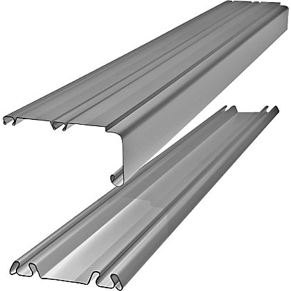 Image for Silver Track Set for Sliding Doors - 3607mm from StoreName