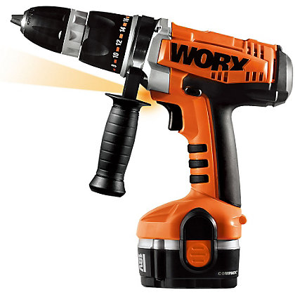 Image for Worx WX369.3 Ni-Cad Cordless Hammer Drill - 2 Batteries - 18V from StoreName