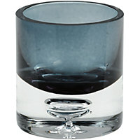 Bubble Round Tea light Holder  - Smoky Grey