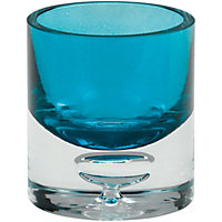 Bubble Round Tea light Holder  - Teal