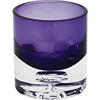 Bubble Round Tea light Holder  - Plum
