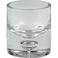 Bubble Round Tea light Holder  - Clear
