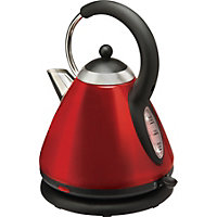Home of Style 1.8L Pyramid Kettle - Metallic Red