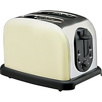 Homebase Stainless Steel 2 Slice Toaster - Cream