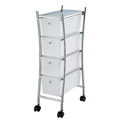 Image for Curved Four Drawer Bathroom Trolley - Slim Design from StoreName