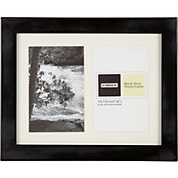 Black Gloss 2 Aperture Photo Frame