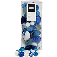 Box of Blue Marbles