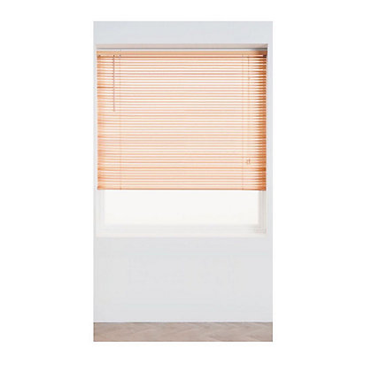 Image for Oak Wood 25mm Venetian Blind - 180cm from StoreName