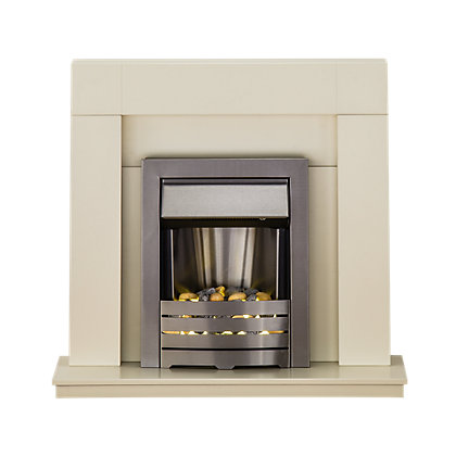 Image for Adam Palermo Electric Fireplace Suite from StoreName
