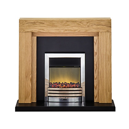 wall mounted electric fires modern fireplaces at homebase. Black Bedroom Furniture Sets. Home Design Ideas