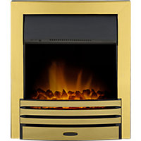 Adam Eclipse Brass Electric Inset Fire