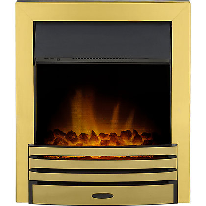 Image for Adam Eclipse Brass Electric Inset Fire from StoreName