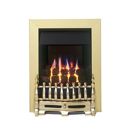 valor blenheim gas inset fire brass. Black Bedroom Furniture Sets. Home Design Ideas