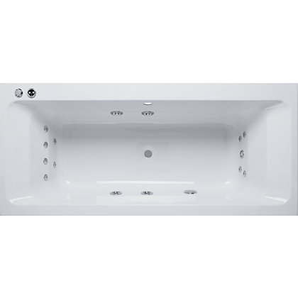 Image for Olney Double Ended Whirlpool Bath - Platinum from StoreName