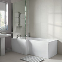 Emberton New L Shaped Shower Bath End Panel - White