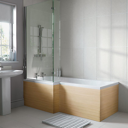 Image for Emberton L Shaped Shower Bath Screen from StoreName