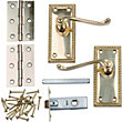Georgian Door Handle Internal Pack - Polished Brass - 1 Pair