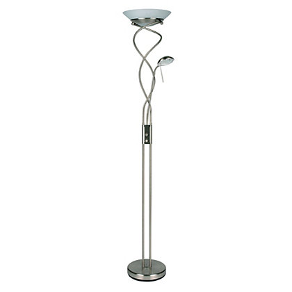 Image for Glass Mayer Floor Lamp - Satin Nickel - 32.5cm from StoreName