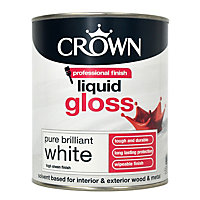 Crown Brilliant White - Liquid Gloss Paint - 750ml