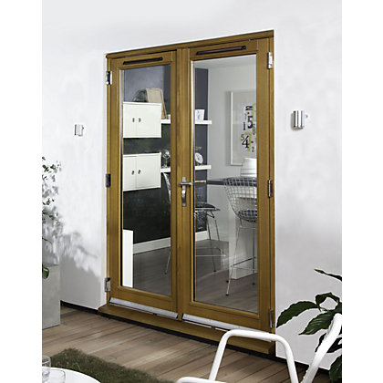 Image for Canberra Laminated Oak Pre-Finished French Doorset - 1800mm Wide from StoreName