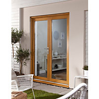Oak Veneer French Doorset - 1200mm Wide