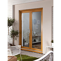 Oak Veneer French Doorset - 1500mm Wide