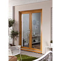 Oak Veneer French Doorset - 1800mm Wide