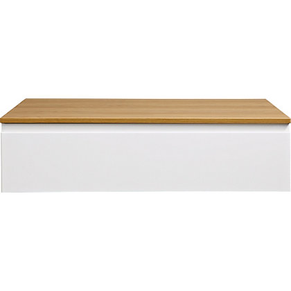 Image for Bracciano Modular 9001 Drawer for Sit On Basin - Oak with Handless Drawer from StoreName